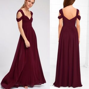 Lulus Make Me Move Burgundy Maxi Dress